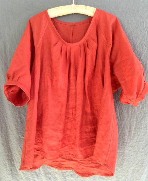 Image of poppy linen blouse