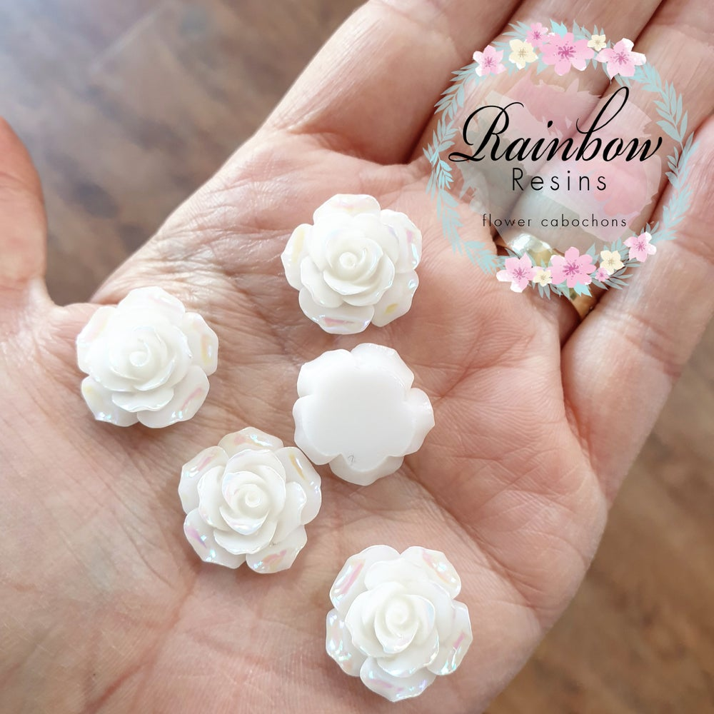 Image of White roses with an AB coating x 10