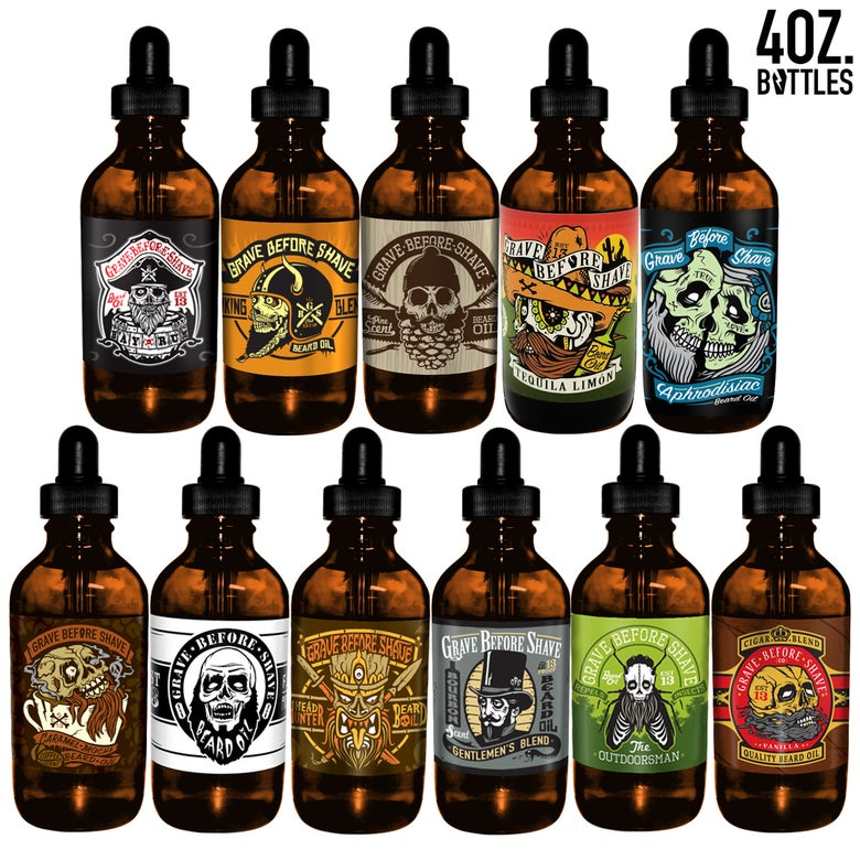 Image of 4oz. BIG BOTTLE OF GRAVE BEFORE SHAVE™  BEARD OIL