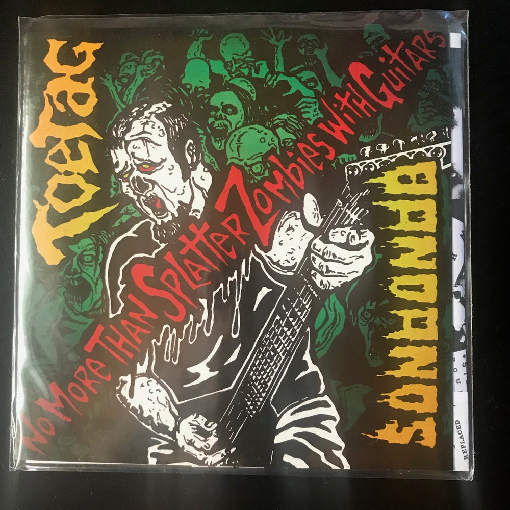 Image of BANDANOS - TOE TAG split 7'- No More Than Splatter Zombies With Guitars