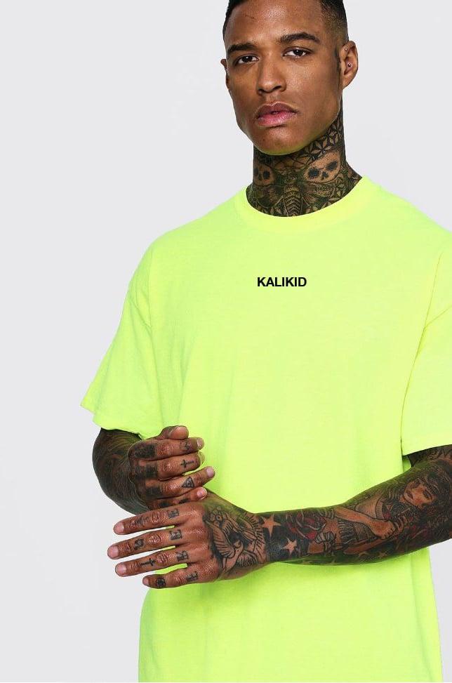 Image of KALIKID LOGO Safty Green T-SHIRT