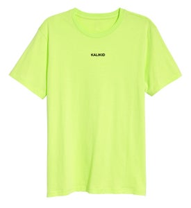 Image of KALIKID LOGO Safty Green T-SHIRT
