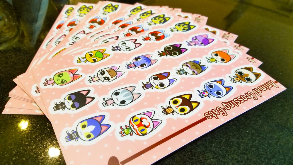 Image of Nintendo ACNL Animal Crossing Villagers 4 x 6in. Vinyl Sticker Sheets