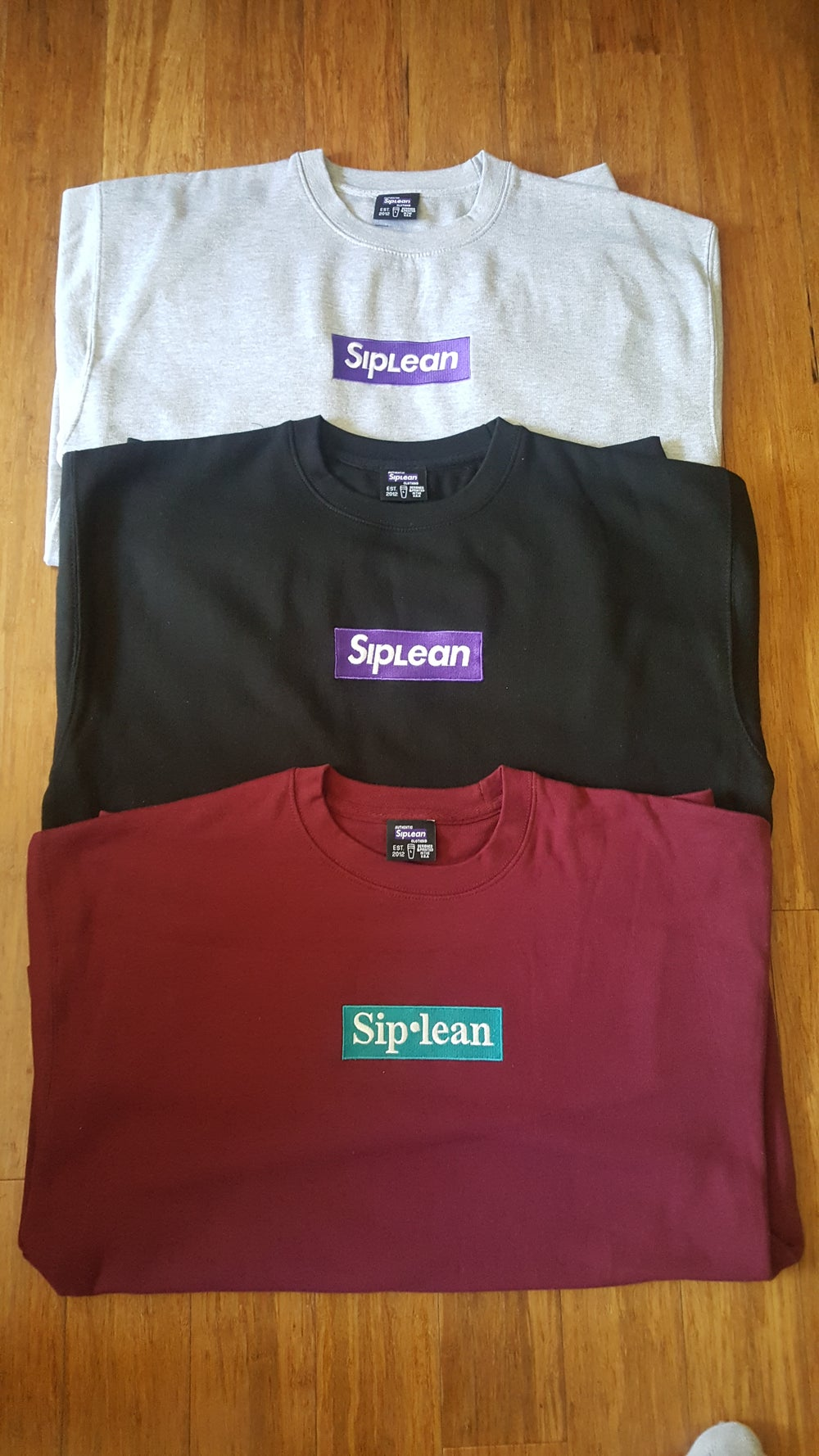 Image of Siplean Embroidered Box Logo Crewneck
