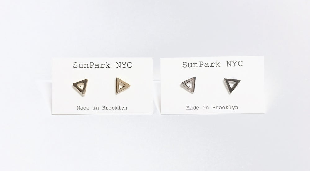 Image of Triangle Frame Studs Earrings