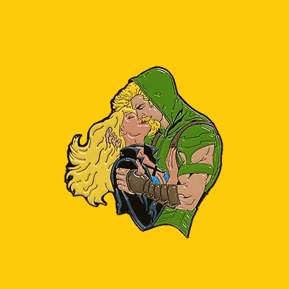Image of Canary & Arrow pin