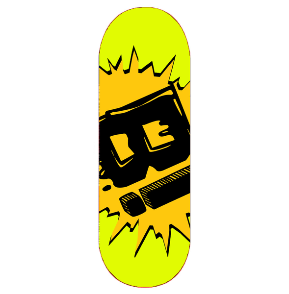 "Image of ""OVRSZD LOGO"" DECK (Yellow Mellow)"