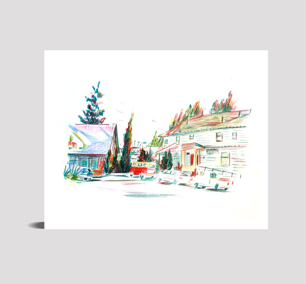 "Image of Oakland, CA (8"" x 10"" print)"