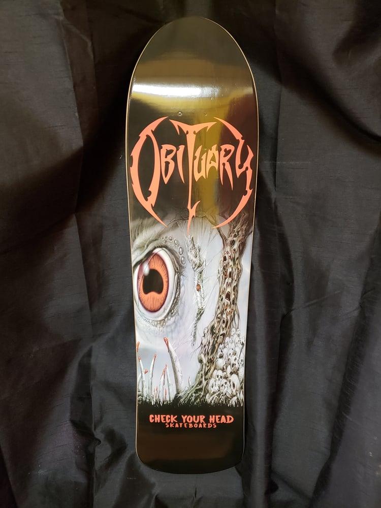 Image of OBITUARY CAUSE OF DEATH skateboard