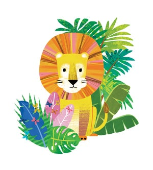 Image of Lion in the Jungle Print
