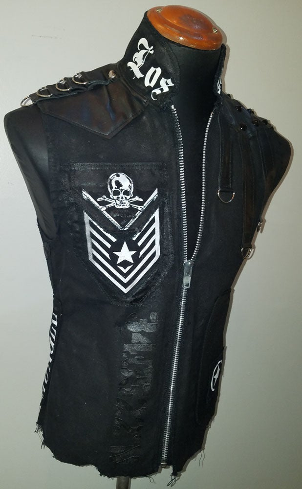 Image of LA Black Denim Vest