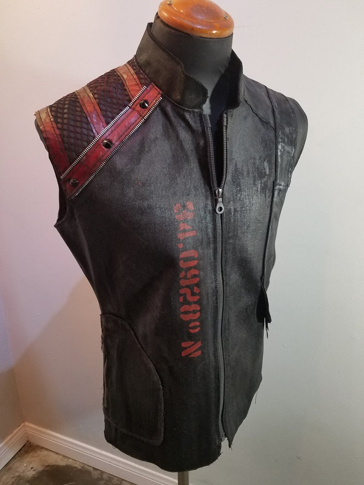 Image of Hollywood Black Denim Vest