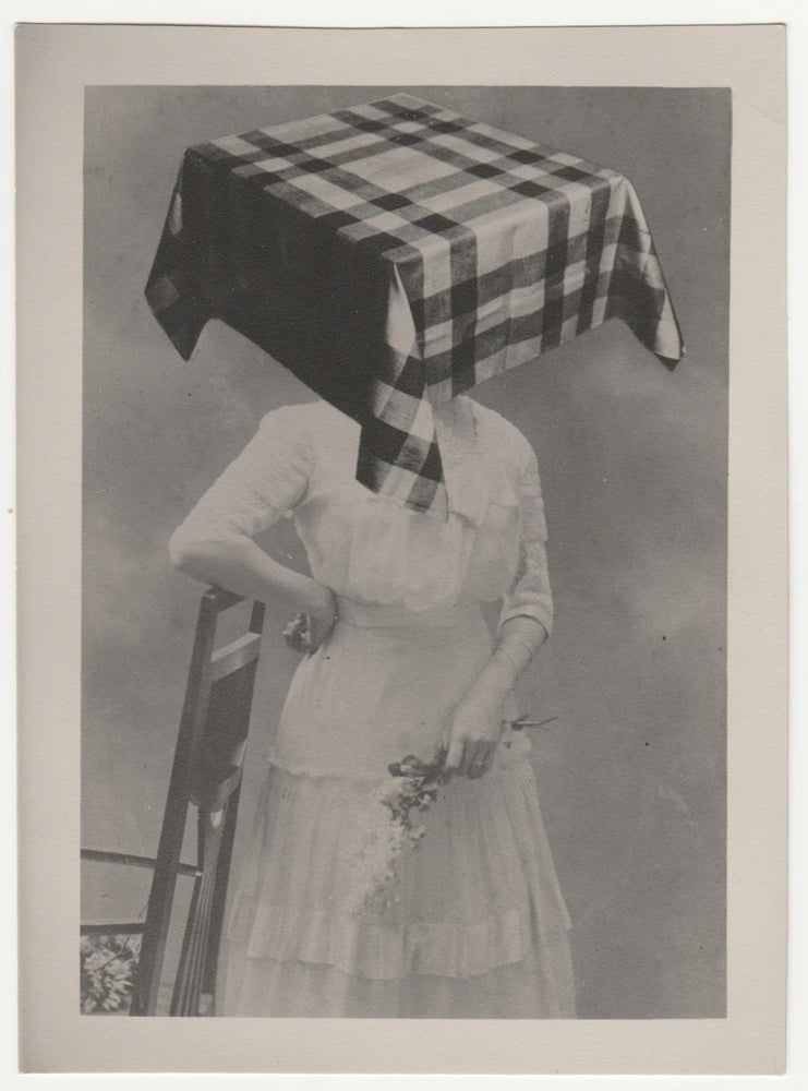 Image of Bohumil Stepan: Sister Amalie with 'square head covered by tablecloth', ca 1971