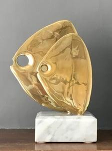 Image of Somchai Fish Sculpture on Marble Plinth