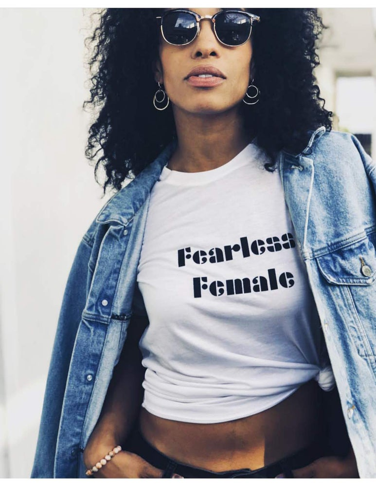 Image of Fearless Female - crew tee