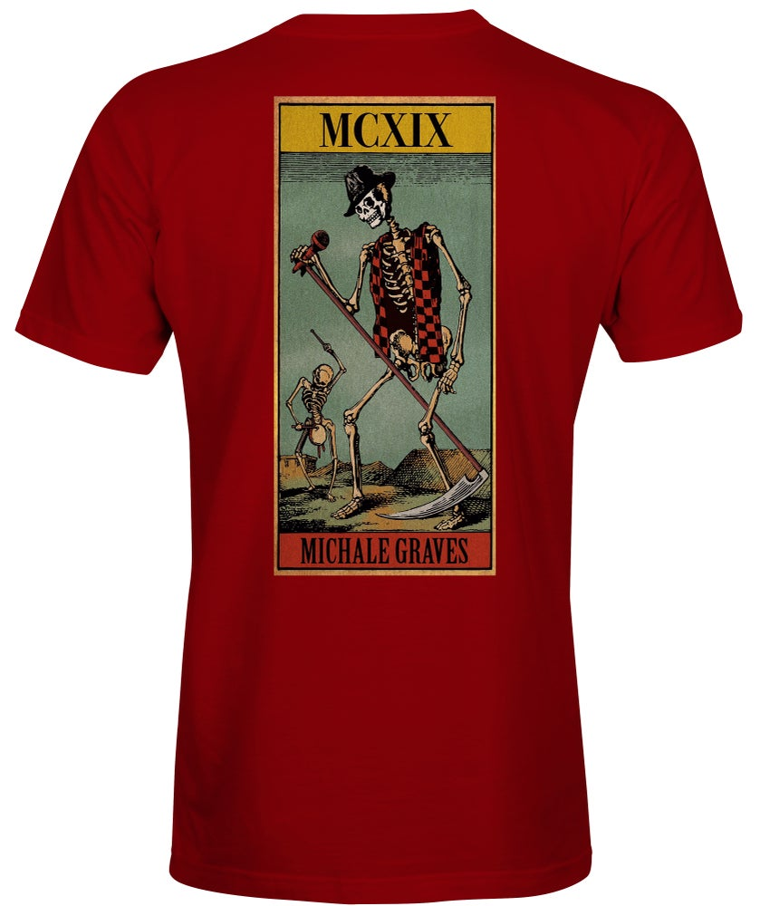 Image of Michale Graves Tarot Card t-shirt red