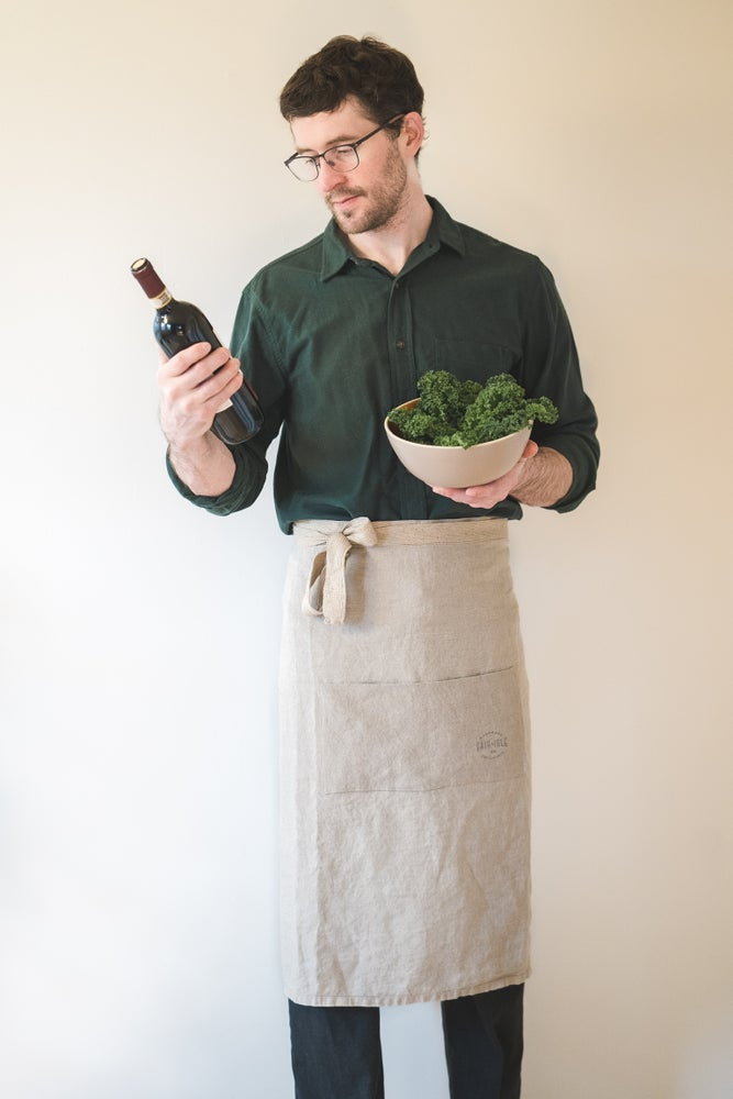 Image of Natural Linen Bistro Apron