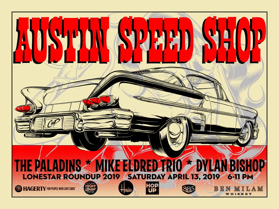 Image of AUSTIN SPEED SHOP LSRU 2019 silkscreen print