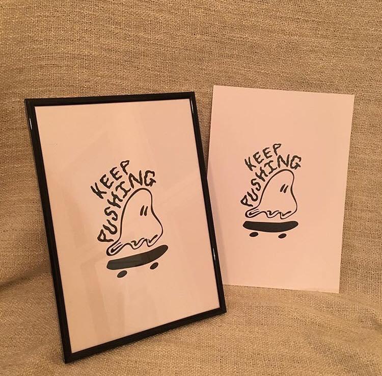 Image of Keep Pushing Art Print