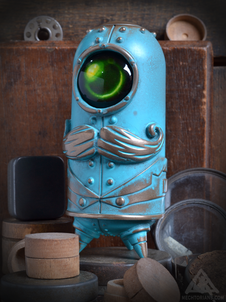 Image of Cymon Clops - Verdegris Edition Resin Mechtorian Figure -FREE SHIPPING-