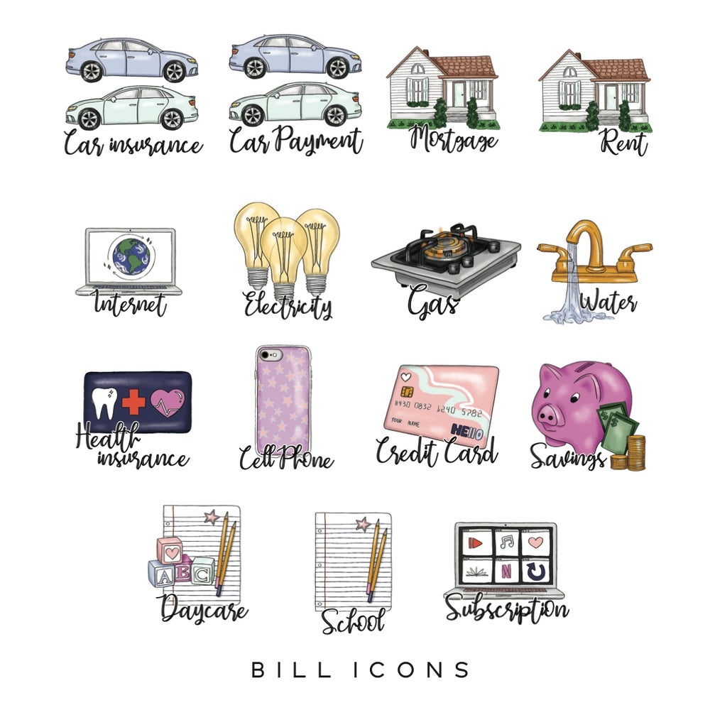 Image of Bill Planner Icons