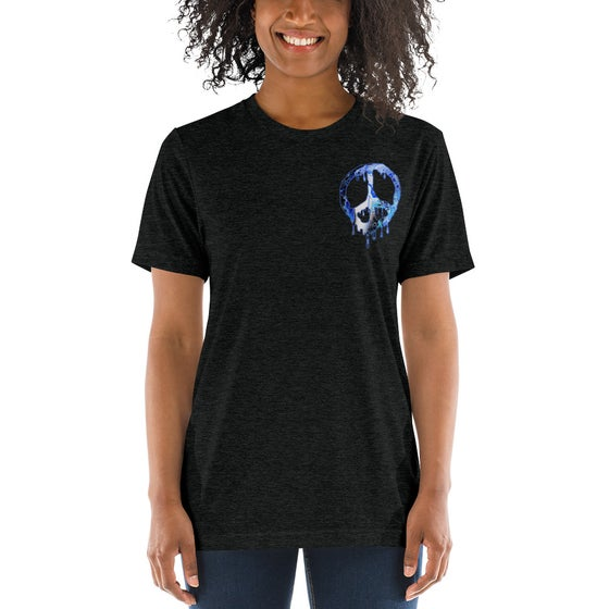 Image of Womens Unisex Drippy Peace T-Shirt