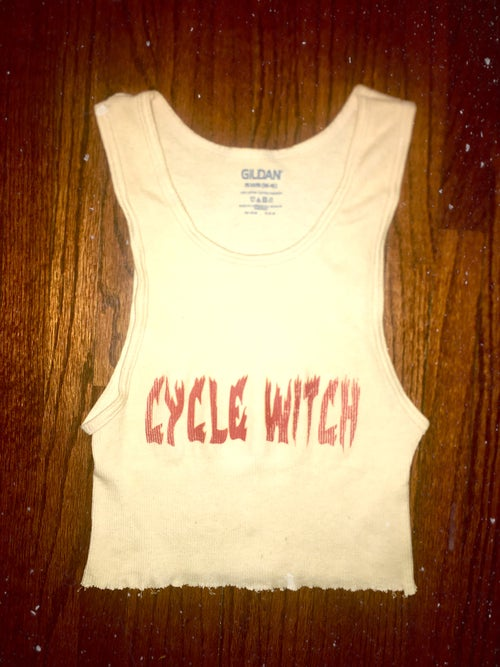 Image of CycleWitch - gritty crop tank