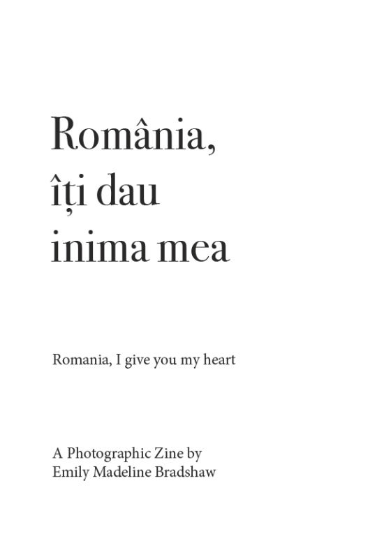 Image of 'Romania, I give you my heart' Zine