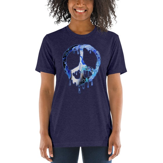 Image of Womens Unisex Drippy Peace T-Shirt (Front Graphic)