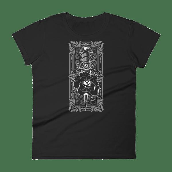 Image of Authentic Arts Dagger ladies T-Shirt black