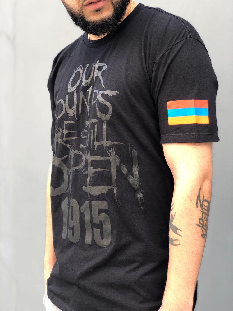 Image of Open Wounds 1915 - Classic Tee Black on Black
