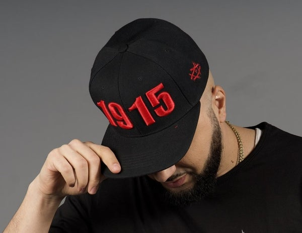 Image of OPEN WOUNDS 1915 - BLACK W/ RED SNAPBACK