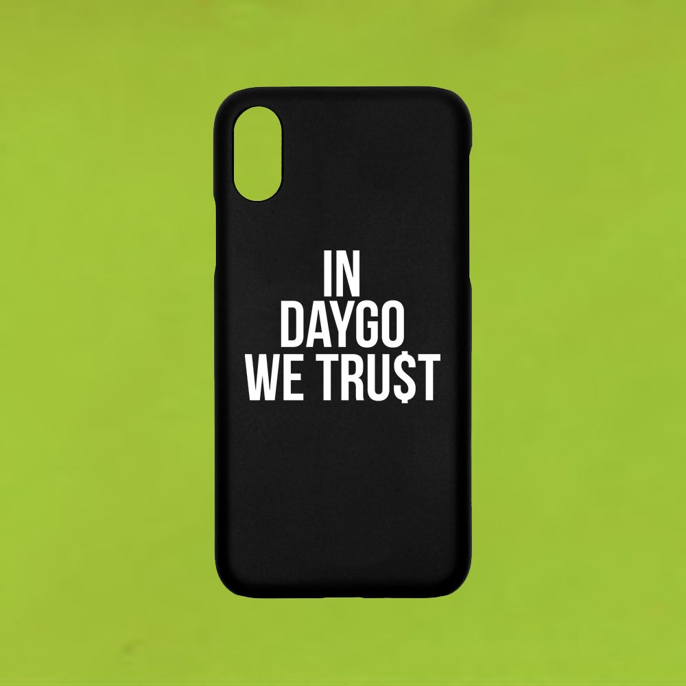 Image of IN DAYGO WE TRU$T (BLK IPHONE CASE)