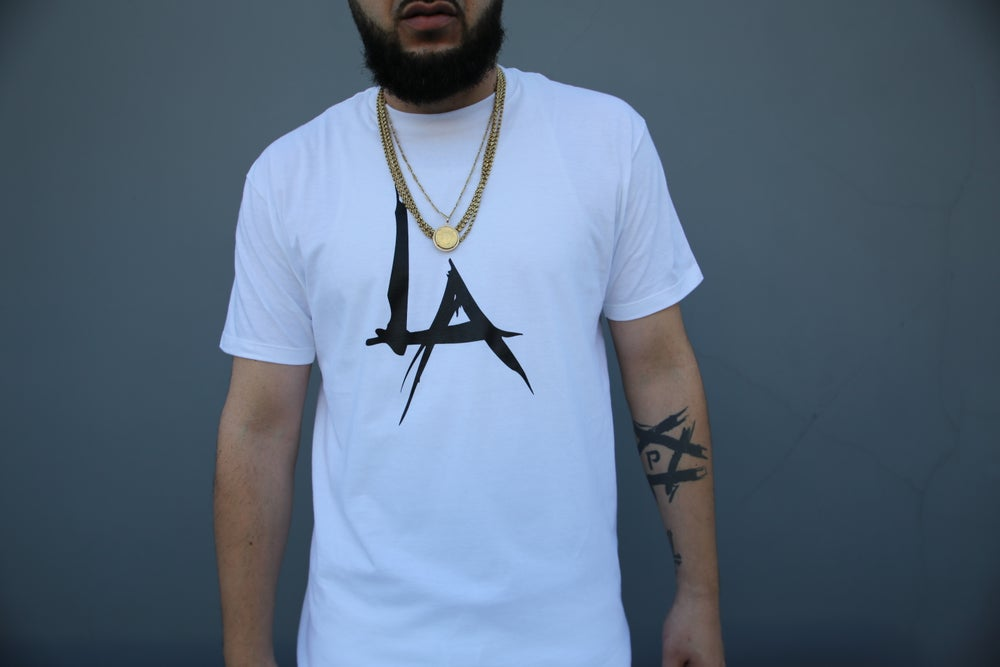 Image of THE PENTAGON LA LOGO TEE - (WHITE)