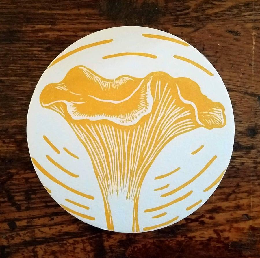Image of Chanterelle Mushroom Coasters