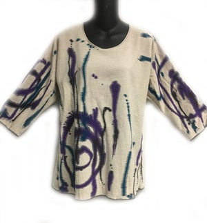 "Image of Alison Tunic - ""Splash"" Design - 90% cotton/10% linen"