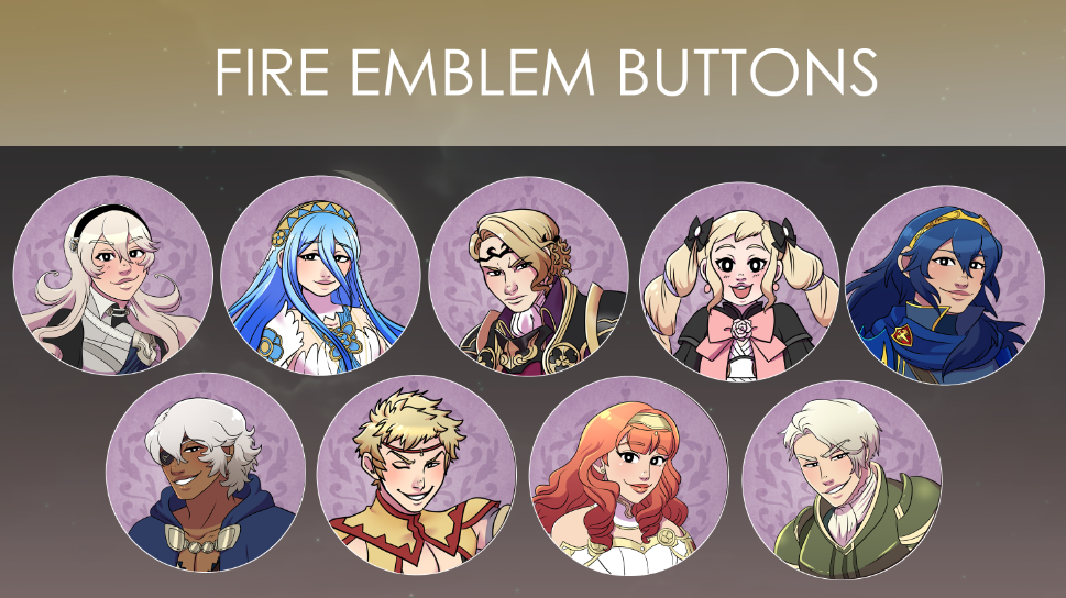 Image of Fire Emblem Buttons