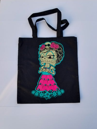 Image of Vida Kahlo Canvas Tote