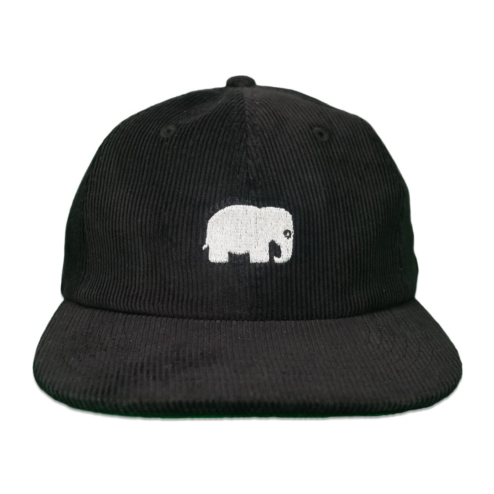 Image of Elephant Corduroy Hat (Black)