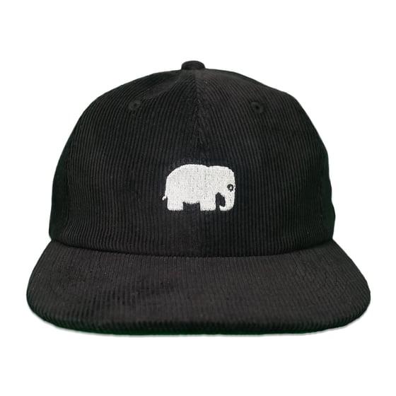 Image of Elephant Corduroy Hat (Black)
