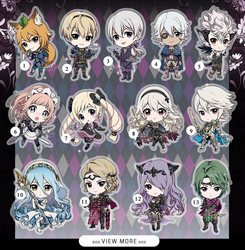 Image of 5cm [ FE Heroes ] charms