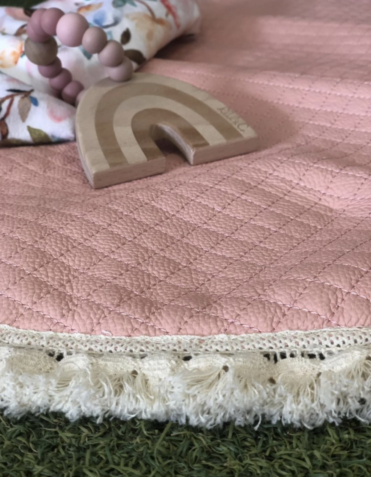 Image of Bella & Ollie Luxe Leather Baby Mat