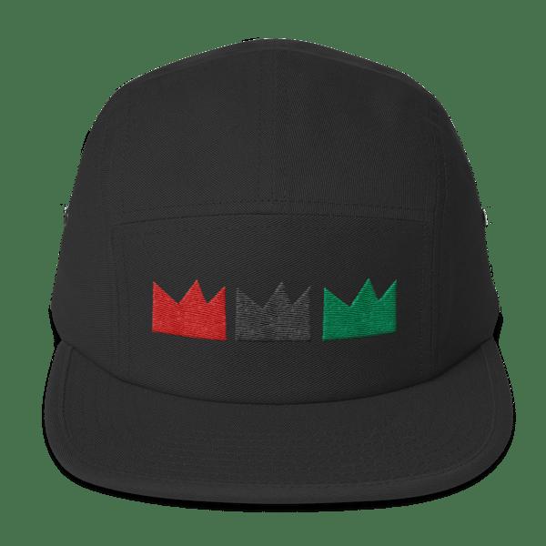 Image of RBG Tres CROWN (5 panel Black cap)