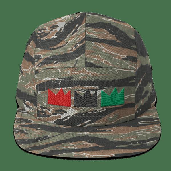 Image of RBG Tres CROWN (5 panel Tiger Stripe Camo cap)