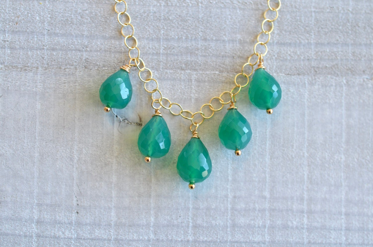 Image of Drops of Emerald Necklace