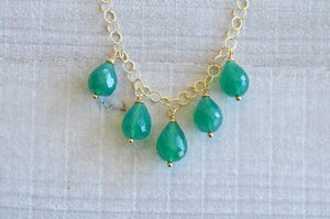 Drops of Emerald Necklace