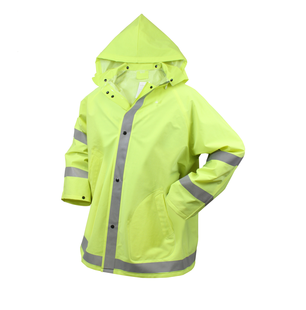 Image of Safety Reflective Rain Jacket