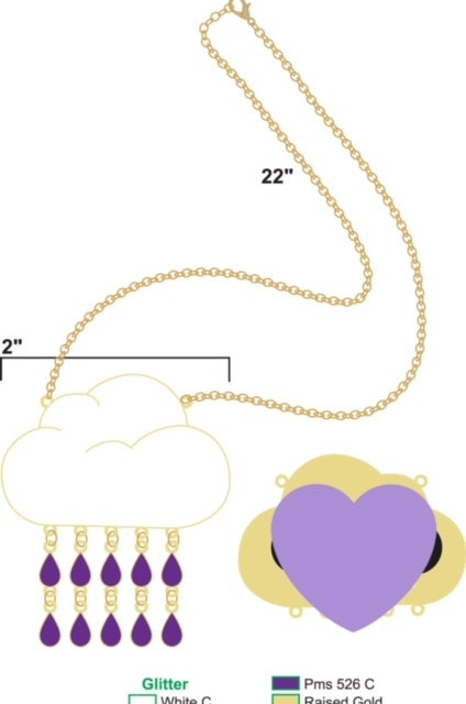 Image of CAN U MAKE IT RAIN HARDER NECKLACE (PREORDER SHIPS 4/30)