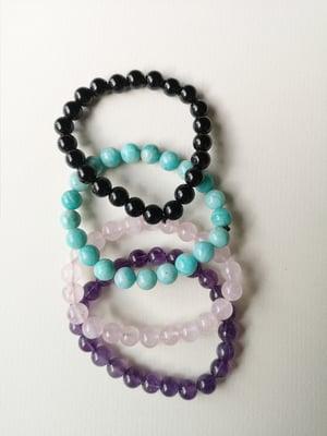 Image of Bracelet Onyx noir - Taille S