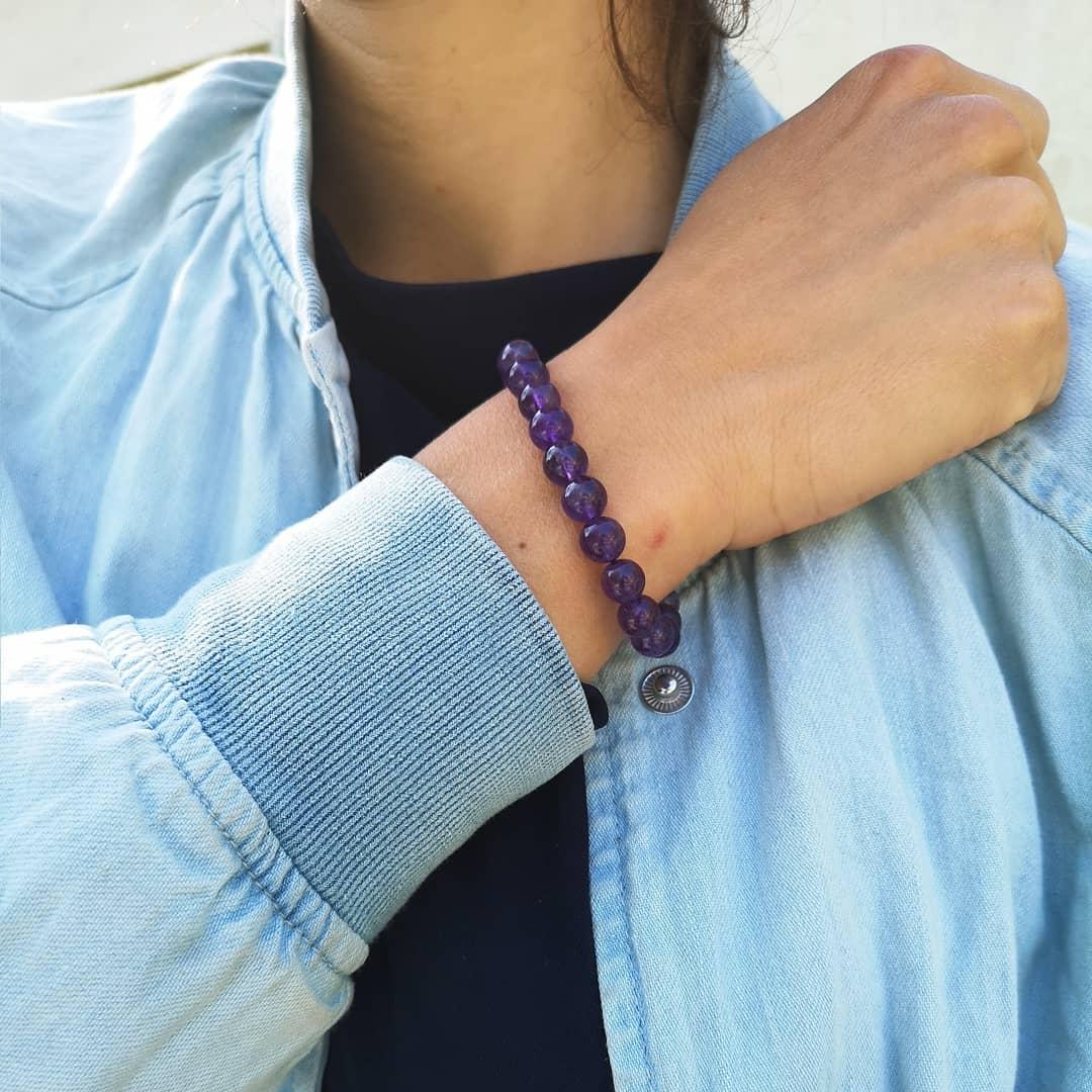 Image of Bracelet en Améthyste - Taille S-M